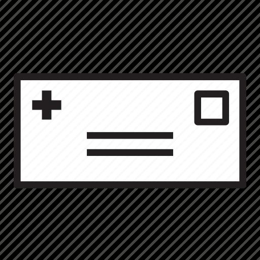bill, envelope, healthcare, hospital, invoice, letter, medical icon