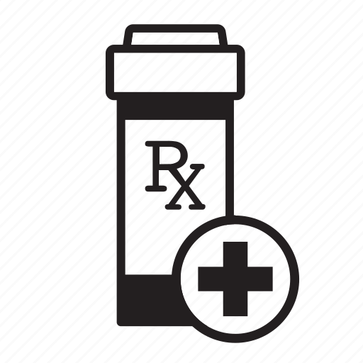 add, aid, bottle, healthcare, medical, prescription, rx icon