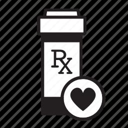 angina, cardiovascular, healthcare, heart, medicine, prescription icon