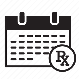 appointment, calendar, medical, monthly, prescription, rx, schedule icon