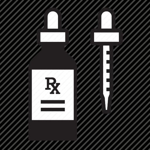 eye dropper, healthcare, medication, medicine, oral syringe, pharmacy, prescription icon