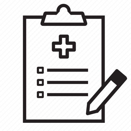 checklist, emergency, exam, healthcare, hospital, medical, physical icon