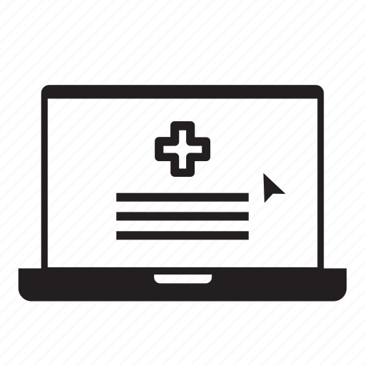 computer, health, laptop, medical, online, web, wellness icon