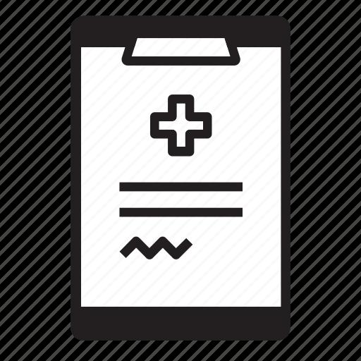 clipboard, document, hospital, medical, prescription, rx, wellness icon