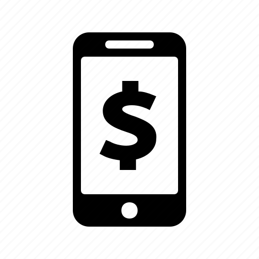 Finance, mobile, money, dollar, phone, pay, payment icon