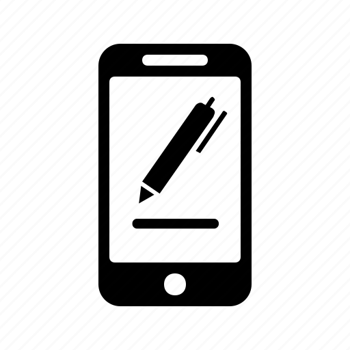 edit, mobile, pen, phone, write icon