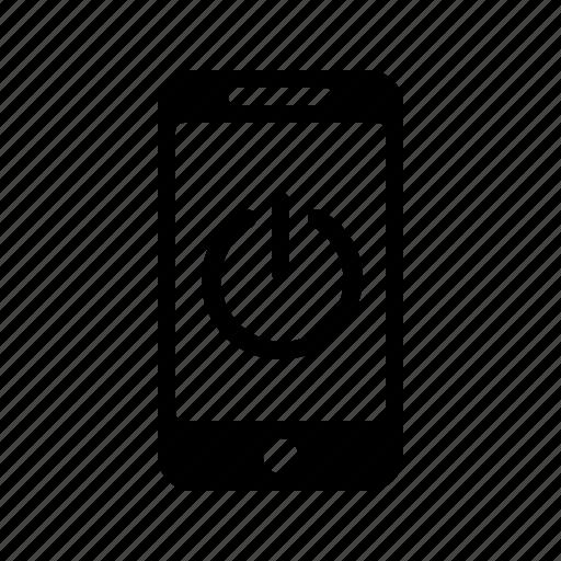 off, on, phone, power, smartphone, telephone icon