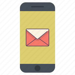 application, email, letter, mail, message, send, telephone icon