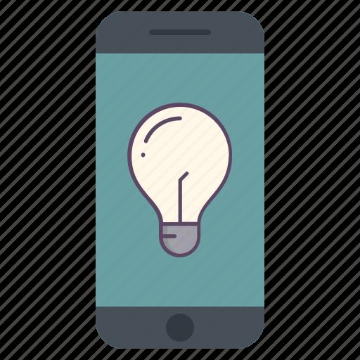 application, electric, idea, lamp, light, power, telephone icon