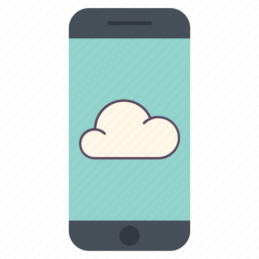 application, cloud, icloud, network, phone, telephone, weather icon