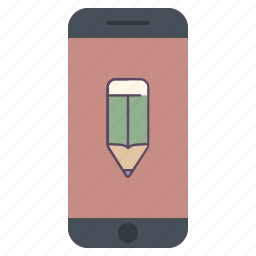 application, edit, format, pen, pencil, telephone, write icon