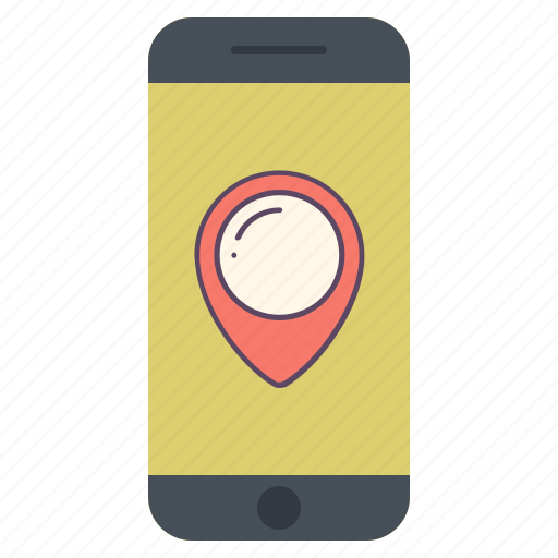 application, communication, gps, location, map, navigation, phone icon