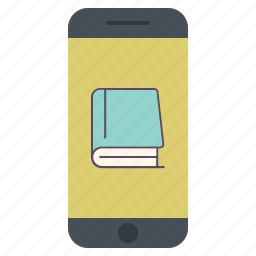 application, book, device, library, phone, read icon