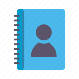 contact book, contact list, contacts, phone book icon