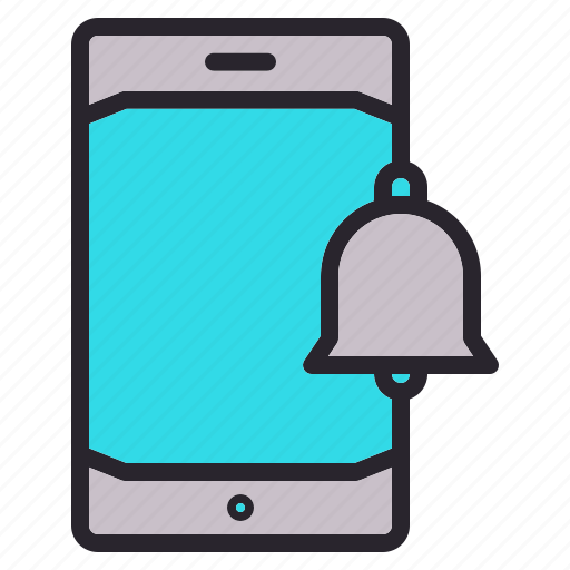 Phone, mobile, smartphone, bell, notification icon - Download on Iconfinder