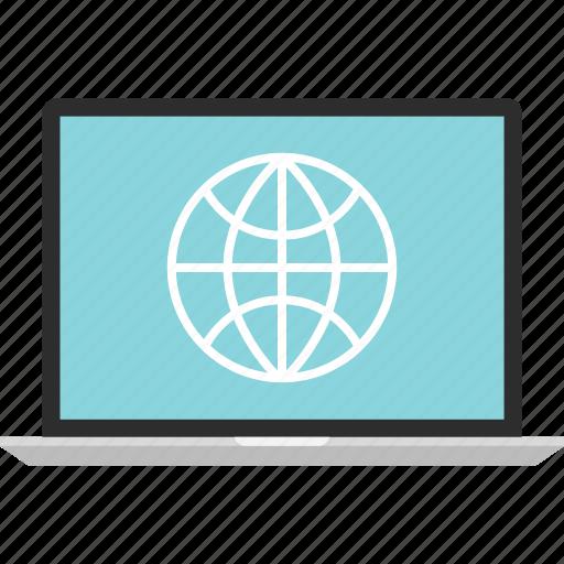 globe, internet, laptop, online, web, www icon