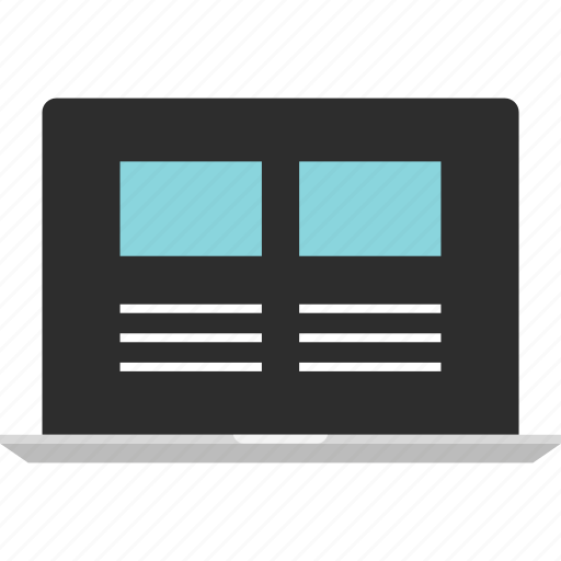 laptop, mockup, online, website, wireframe icon