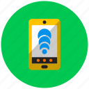 application, message, mobile, signal, smartphone, telephone, threat icon