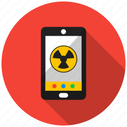 application, mobile, smartphone, telephone, thief, threat, virus icon