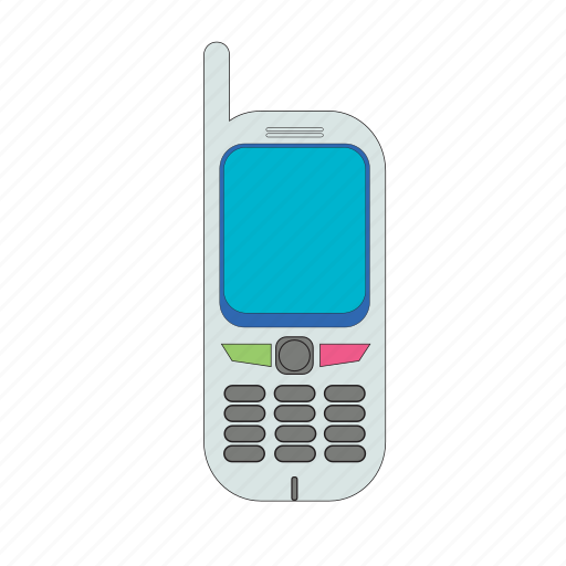 antena, button, cellular, communication, old, phone, telephone icon