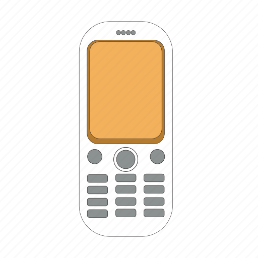 cellular, communication, display, old, phone, telephone, wireless icon