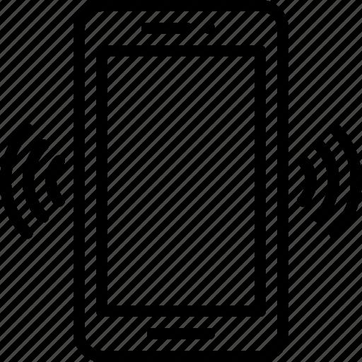 alert, conversation, ring, shaking phone, smartphone, vibrate, vibrating phone icon icon
