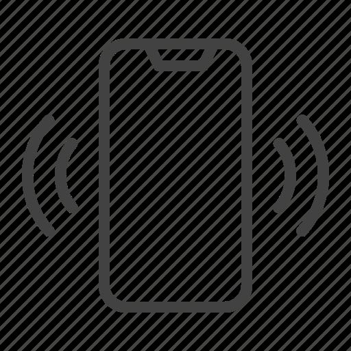call, mobile, phone, smartphone, vibrating icon