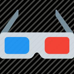 dimensional, dimention, glasses, three, three dimension glasses icon