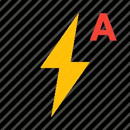 auto, automatic, bolt, flash icon
