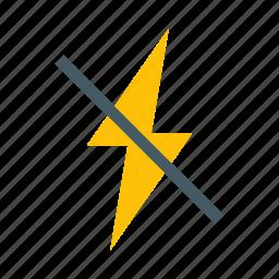 camera, flash, off, photo, shot icon