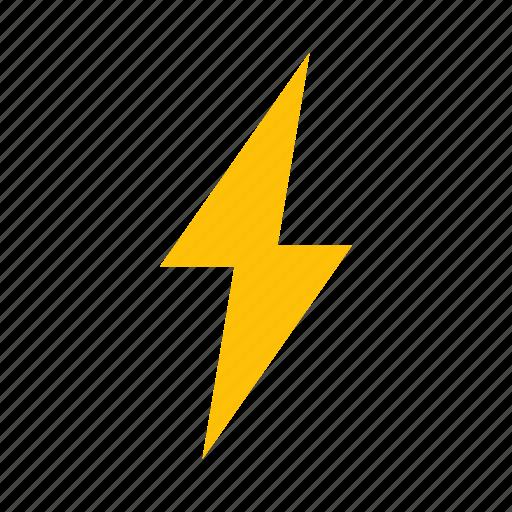 bolt, flash, on, power icon