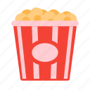 cinema, food, movie, popcorn, snack icon