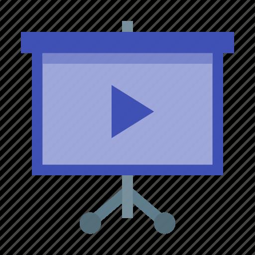 monitor, movie, presentaion, projection, screen icon