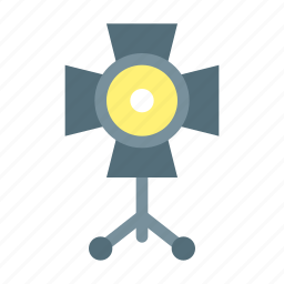 lamp, photography, spotlight, studio icon