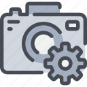 cam, camera, digital, gear, media, photography, process icon