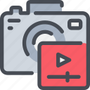 camera, digital, media, movie, video, videography icon