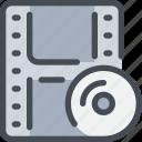 cd, media, movie, video, videography icon