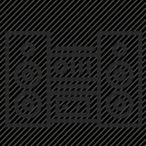 audio, center, column, music, player, recorder, studio icon