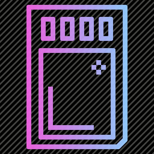 Data, memorycard, sdcard, storage icon - Download on Iconfinder