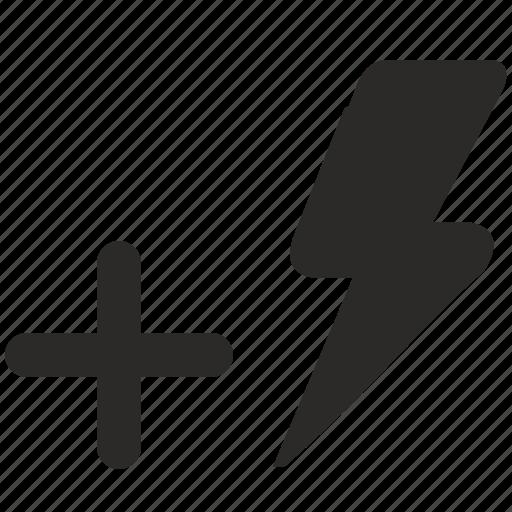 add, flash, lighting, more, photo, plus icon