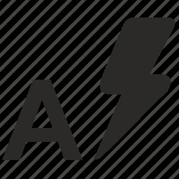 auto, automatic, camera, flash, lighting, photo, shock icon