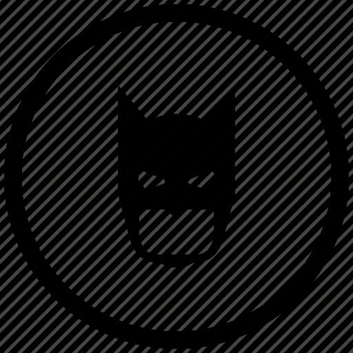 atm, bat, batman, face, mask, round icon