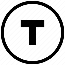 bold, border, format, letter, round, text, weight icon