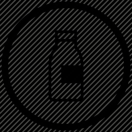 atm, bottle, drink, milk, round icon