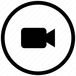 atm, cam, camera, round, video icon