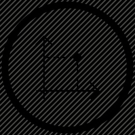 atm, chart, economics, function, math, round icon