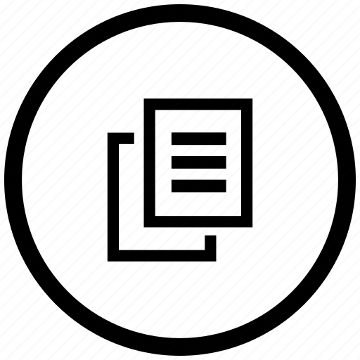atm, copy, file, printer, round, xerox icon