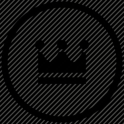atm, crown, king, round, royal icon