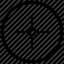 aim, atm, cursor, pointer, round, target icon