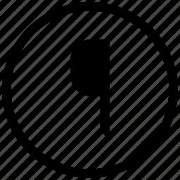 border, edit, flag, pointer, round, text icon